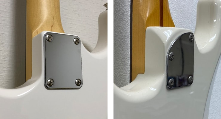 FenderとCoolZのネックプレート