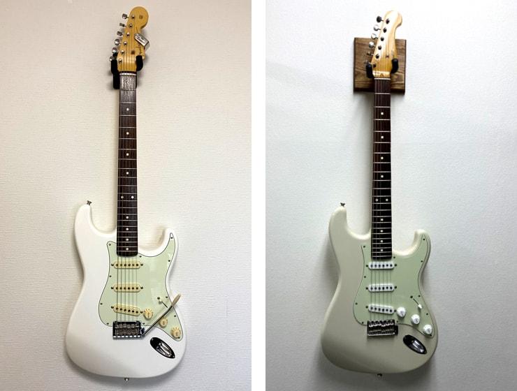 FenderとCoozZのストラト